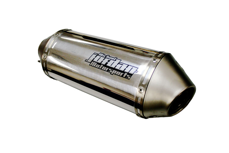 Laser marked motorcycle exhaust (using marking compound)