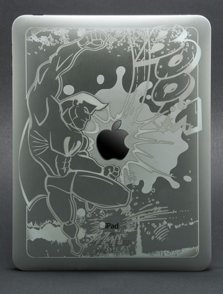 Laser marked iPad