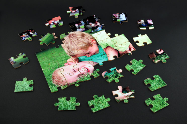 Laser cut acrylic photo puzzle