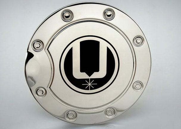 Laser marked gas cap cover (using marking compound)