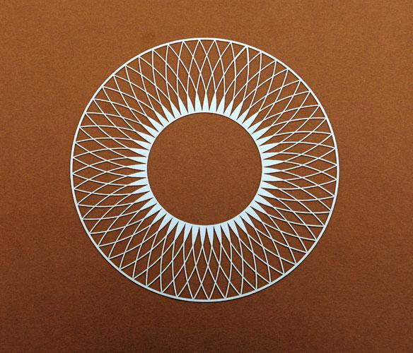 Laser cut paper pattern