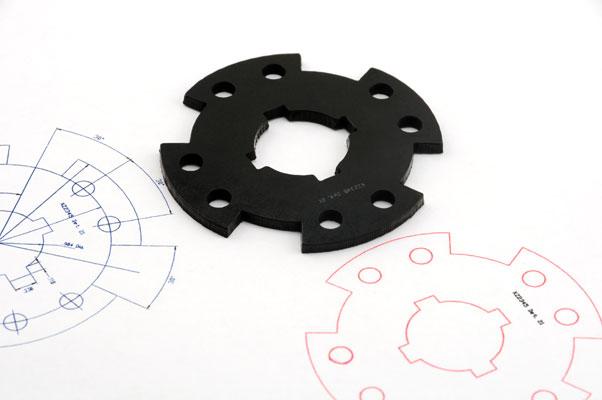 Laser cut Neoprene gasket prototype
