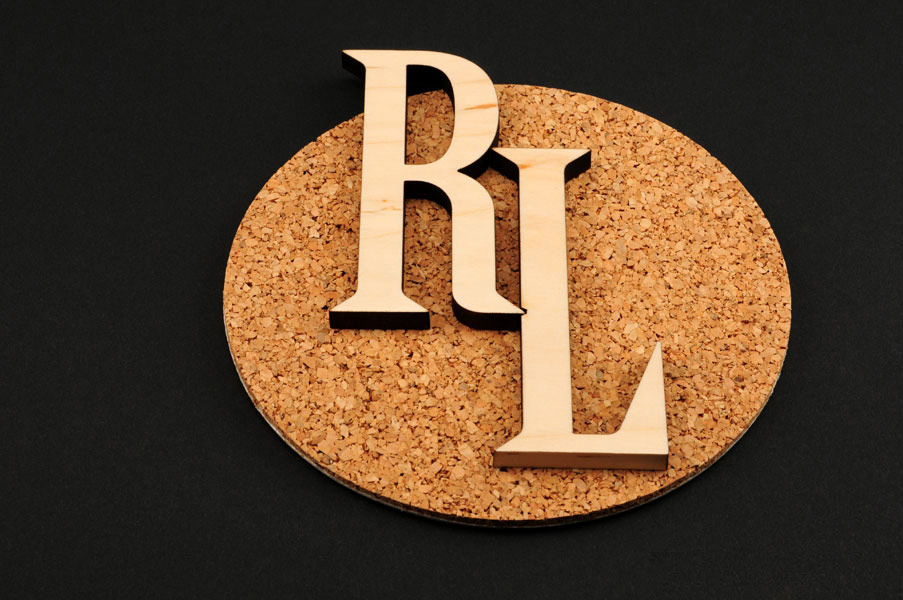 Laser cut wood dimensional letters