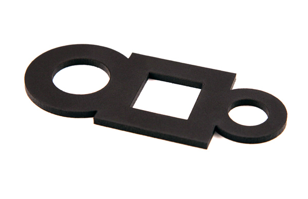 A gasket cut from a Poron® sheet